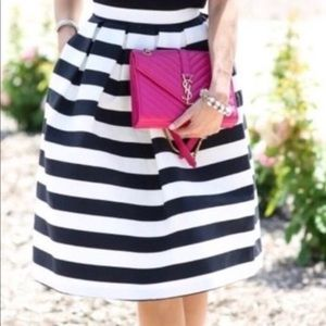 Haute Monde Skirt - M striped black , poly